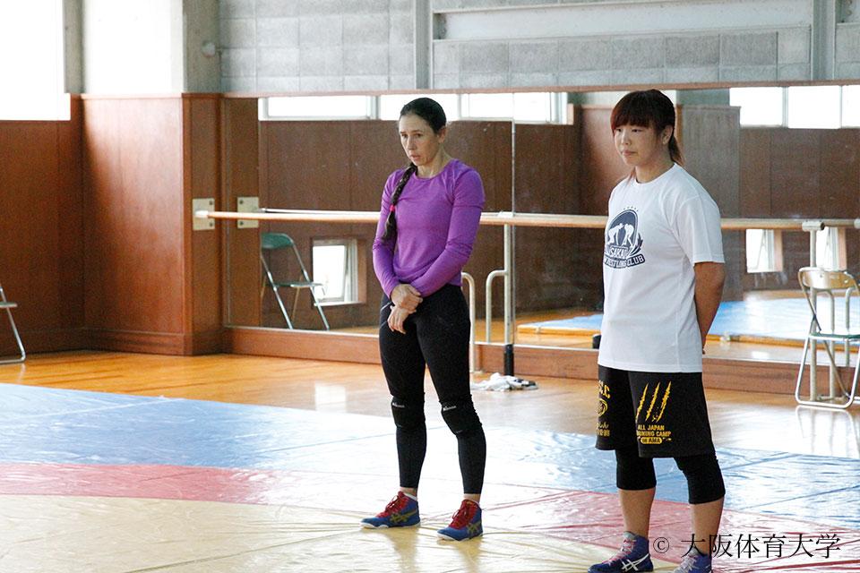 ジェシカ選手と増田コーチ