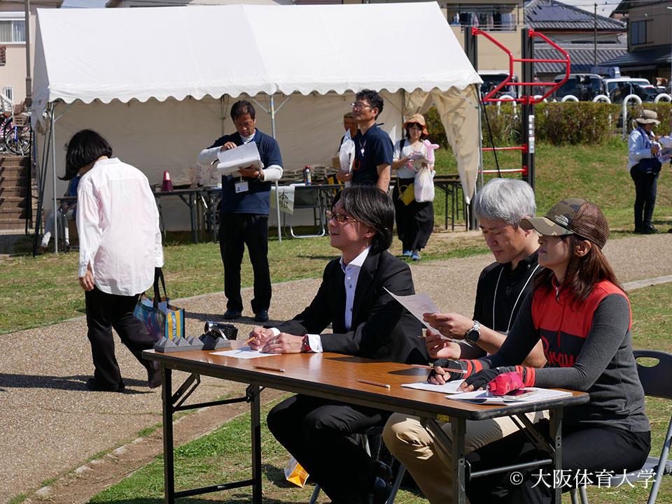 「たじりっち体操コンテスト」審査員で参加の三島教授