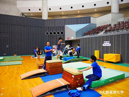トップスポーツクラブによる器械体操の指導