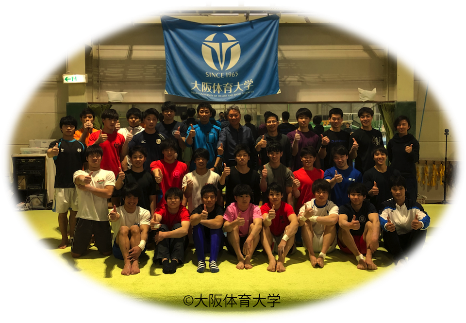 Team OUHS Gymnastics with Huang Yubin and Liang Cheng