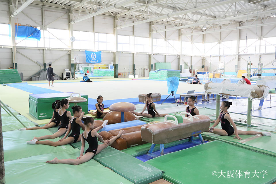 上海市体操運動センターの練習風景
