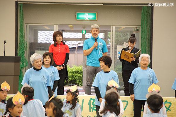 たじりっち体操を監修した三島先生も参加し、完成披露を行った