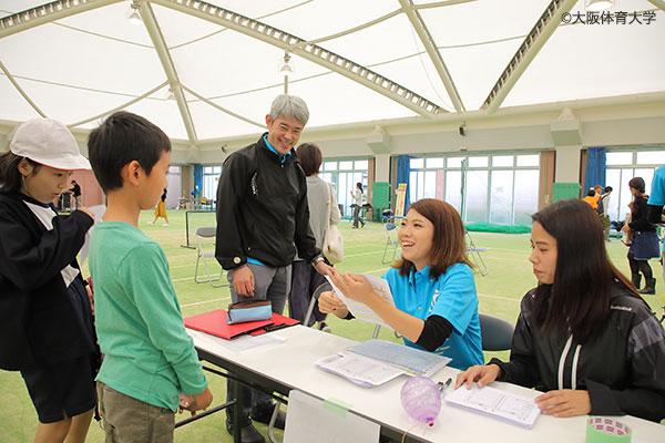 たじり健康フェスタに参加した子どもたちも体力・運動能力測定に挑戦