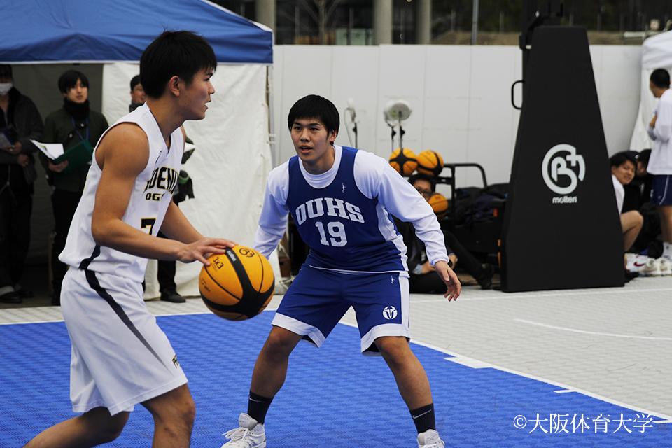 バスケットボール部男子が『Ex-CROSS』で3×3の試合を披露